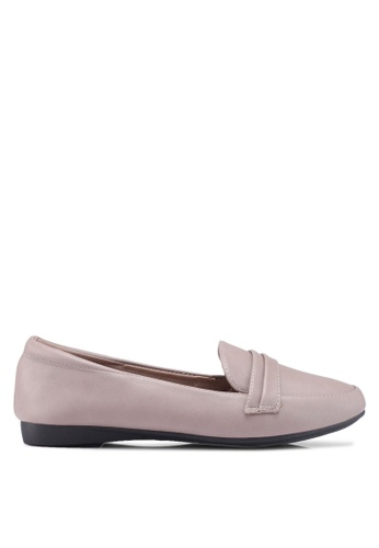 Louis Cuppers 灰色 Faux Leather Loafers 222C0SH524A2A1GS_1