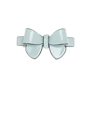 Glamorousky silver Fashion Simple Light Green Ribbon Large Hair Slide BDCCAACEED1D8FGS_1