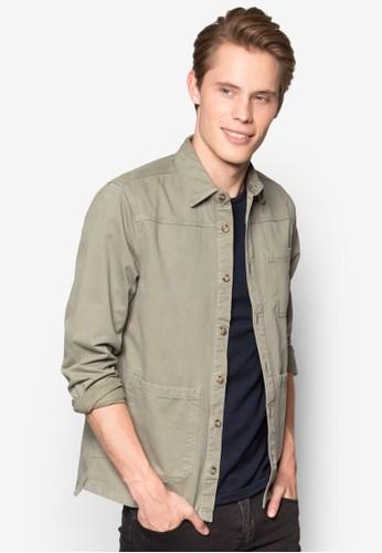 口袋長袖襯衫, esprit 尖沙咀服飾, 服飾