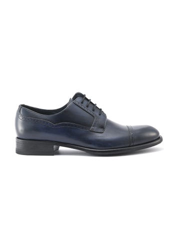 Gay Giano navy Calf Navy Leather Derby Shoes 68CCESHD63294BGS_1