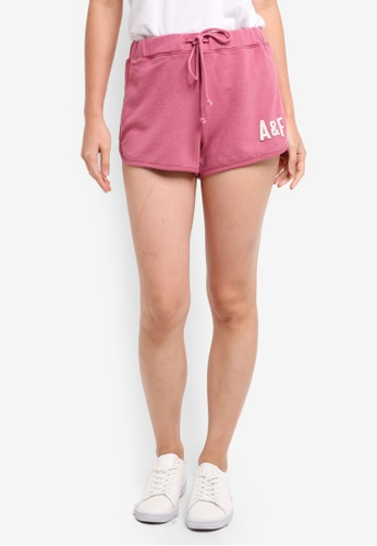 Abercrombie & Fitch pink Sun Fade Logo Shorts C6DB7AA33C4F12GS_1