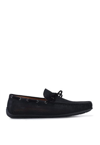 Louis Cuppers black Faux Leather Bow Loafers AD42BSH4D26BB1GS_1