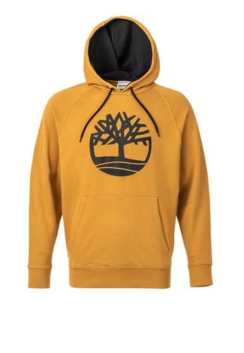 Timberland beige Timberland Men Print Tree Logo Hoodie Wheat-TB0A2577P47 D62EDAA2183932GS_1