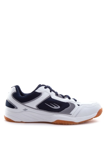 World Balance white and navy Court Ace Sneakers WO444SH96YTRPH_1