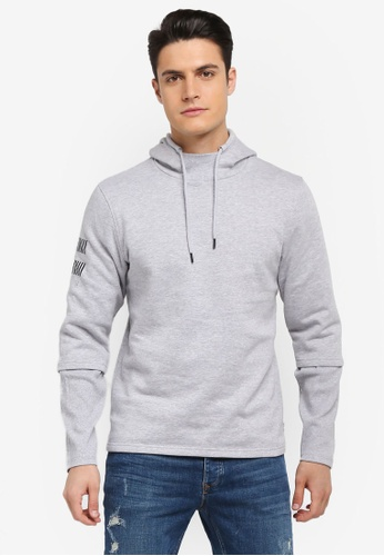 Jack & Jones grey Jcobaines Sweat Hoodie 14481AAD008EF3GS_1