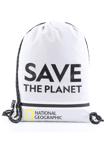 National Geographic white National Geographic Saturn Drawstring Bag White E1E64ACA4363FDGS_1
