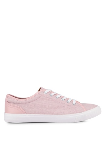 Topman pink Pink Canvas Swiss Geo Print Trainers F0FA0SHE2117B7GS_1