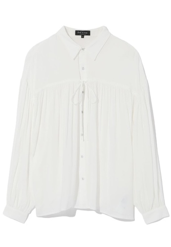 tout à coup white Semi-sheer panelled blouse FA0A2AA9C1295AGS_1
