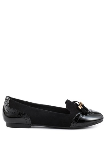 London Rag black Lexi Tassel Loafers 4F051SH3C9A9FBGS_1