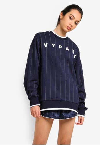 Ivy Park 黑色 條紋印花棉T 8B414AA501858AGS_1