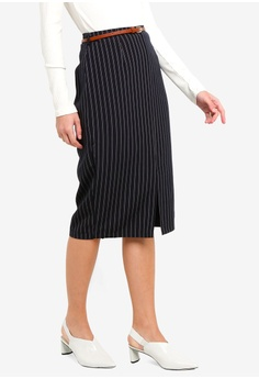 be92ed418d Dorothy Perkins navy Double Stripe Pencil Skirt 48D7CAA52A8CAAGS_1