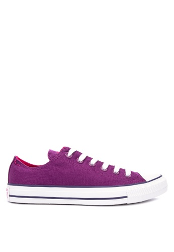 e05c989ba19c Converse purple Chuck Taylor All Stars Seasonal Color Canvas Sneakers  745E1SH041518CGS 1