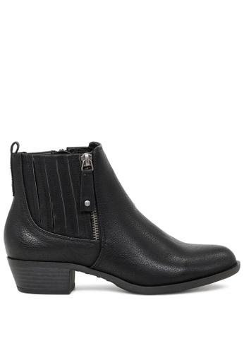 London Rag black Black Boots with Side Zippers SH1739 79641SHC8E4A1AGS_1
