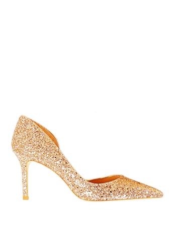 Twenty Eight Shoes 金色 單邊通幫閃片晚裝及新娘鞋 VP88621 180E6SH7C2DBCAGS_1