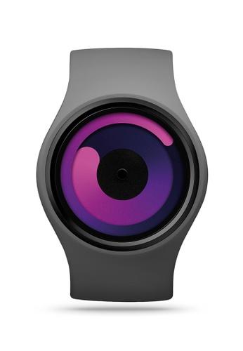 ZIIIRO black and grey and purple Gravity One Grey Purple Watch 1EB87ACA66031EGS_1
