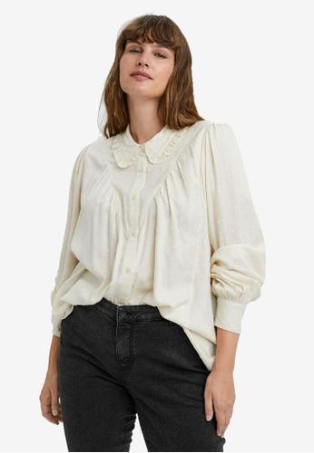 Vero Moda beige Nanna Collar Shirt 71BEEAA43F26D9GS_1