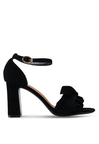 Something Borrowed black Ruffled Heels 09E69SH25ECF8DGS_1