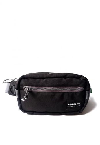 Wanderlust Wanderlust Nooga Hippack Hip Pack Selempang Waistbag Sling Black Grey 5D9B3AC50DC168GS_1