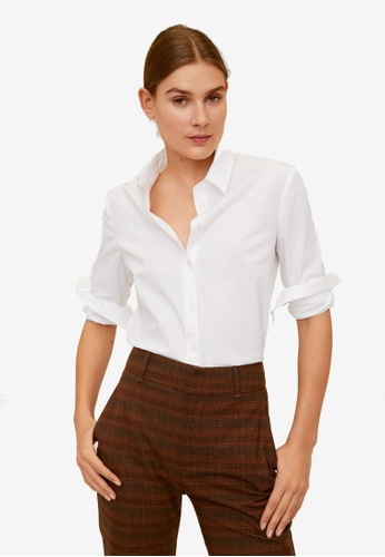 Mango white Cotton Shirt D4146AA074C734GS_1