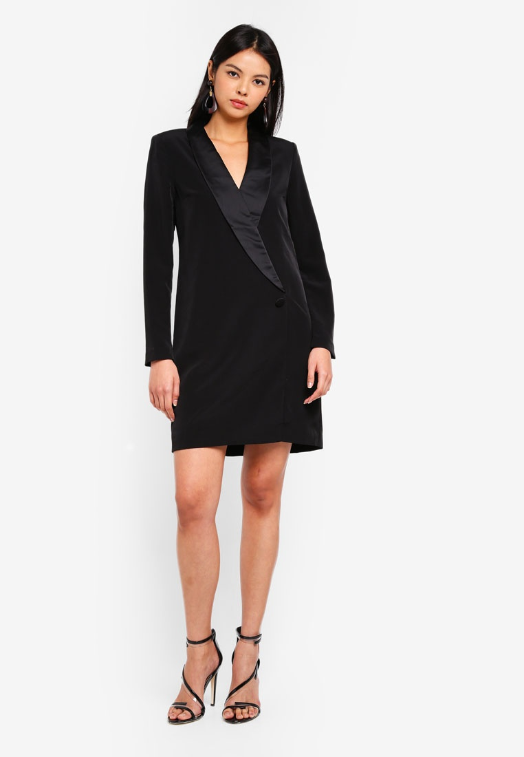 Elsa Blazer Black Dress Moda Vero PCrFqZPd