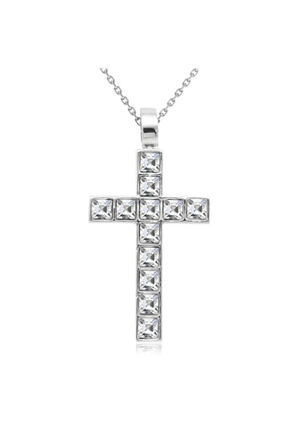Her Jewellery silver Crystal Cross Pendant - Licensed Genuine Crystals from Swarovski® HE581AC0RCCWMY_1