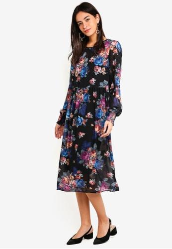 Vero Moda black Gina Calf Dress 6F874AA030AC55GS_1