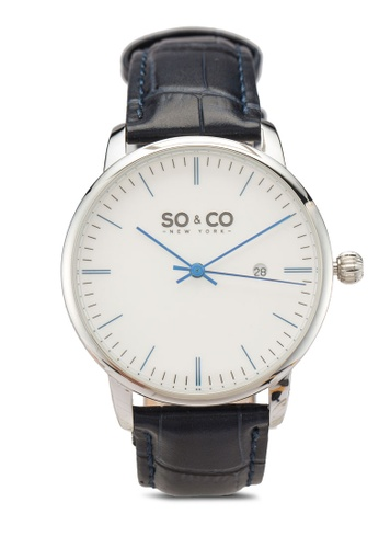 SO&CO blue and silver Madison 5521 Watch 0F628ACEBA2B37GS_1