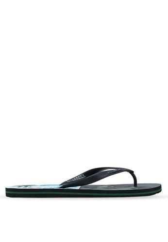 Billabong green and multi Tides Flip Flops 5AFEASHA09164AGS_1