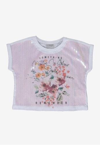 LC Waikiki white Girl's Stamp Embroidered Crop T-Shirt 46F83KA53D8AB0GS_1