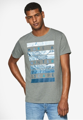 ESPRIT 灰色 印花T恤 2EE3FAA9B6485BGS_1