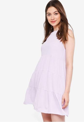 Something Borrowed purple Tiered Sleeveless Babydoll Dress 19757AA26F24F3GS_1