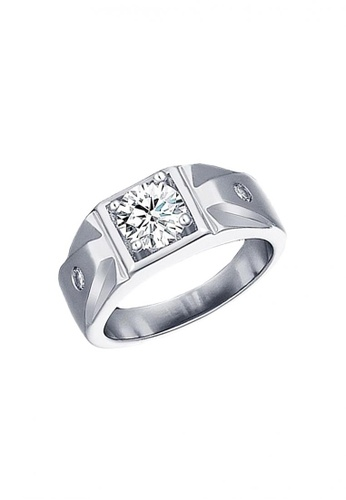 Elfi silver Elfi 925 Genuine Silver Engagement Ring R14 - The Virile EL186AC68TRFMY_1