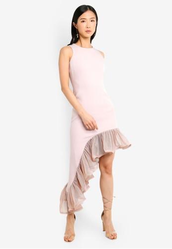 Megane purple Red Romance Amie Asymmetric Dress 135DDAA921CA8AGS_1