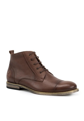 Twenty Eight Shoes Vintage Leather Brogue Boot 0122 A52BDSHE8574F5GS_1