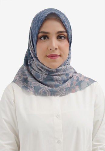 Buttonscarves blue Buttonscarves Haramain Voile Square Allure 294ACAA2995184GS_1