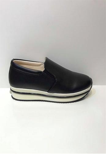 Crystal Korea Fashion 黑色 韓國制厚底輕便休閒鞋 3EBAFSH1450180GS_1