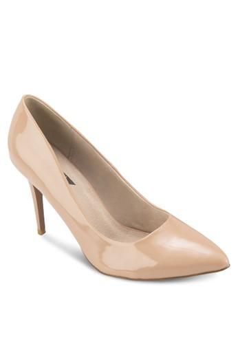 基本esprit hk款漆皮高跟鞋, 女鞋, 鞋