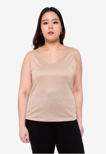 Junarose pink Plus Size Maluva Sleeveless Top 87389AAE581576GS_1