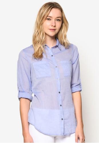Giselle 棉質長袖襯衫, 服飾, 上esprit 價位衣