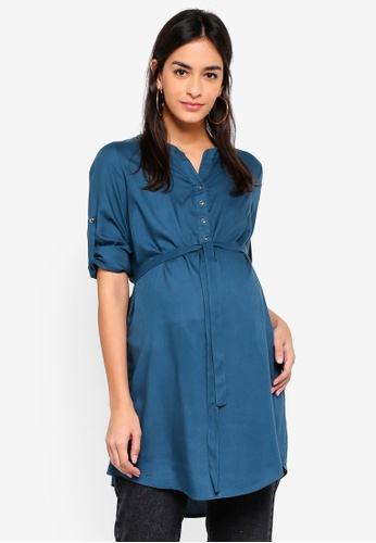 Mama.licious blue Maternity Mercy Tunic Top 5A921AA47D3AAEGS_1