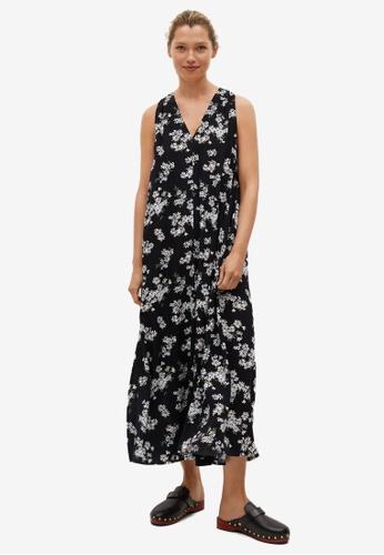Mango black Flowy Printed Dress 3634AAAA342FE6GS_1