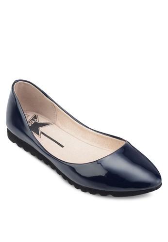 暗紋esprit門市尖頭平底鞋, 女鞋, 鞋