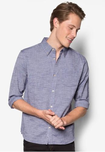 暗esprit 寢具紋長袖襯衫, 服飾, 服飾