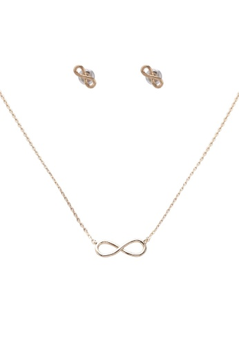 Orelia London gold Infinity Earring & Necklace Multi Pack OR747AC0SC5FMY_1