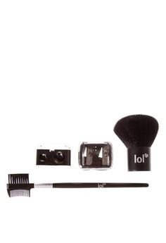 Kabuki Brush, Lash & Brow Groomer & Sharpener Bundle