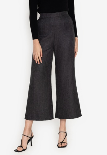 ZALORA WORK black Tweed Pants BE4F2AA12A67C5GS_1