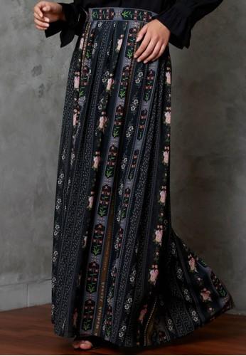 Vivi Zubedi black Mmj printed skirt 405BCAA090BF97GS_1