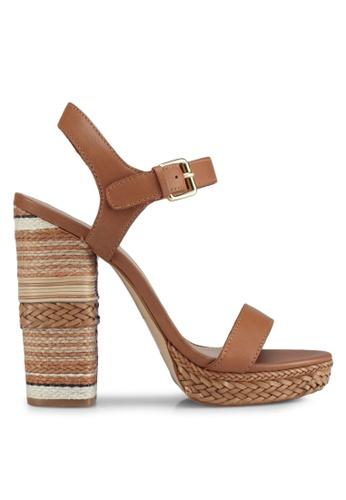 ALDO brown Huglag Heeled Sandals 5F265SH43BEBA7GS_1