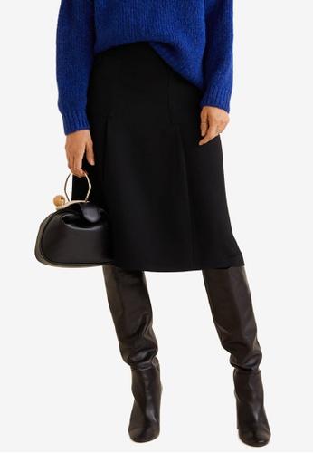 125b89f069 Buy Mango Flared Midi Skirt Online on ZALORA Singapore