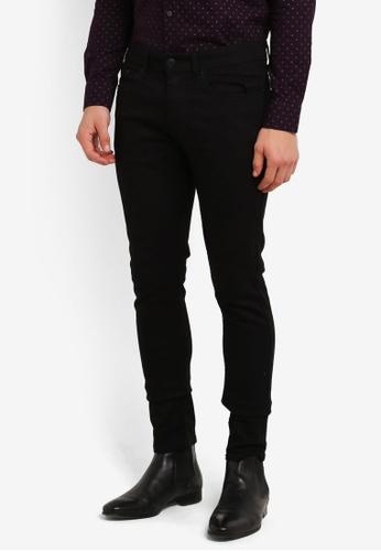 Burton Menswear London black Black Ethan Super Skinny Jeans BU964AA0RZGKMY_1